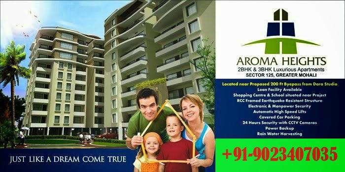 Aroma heights kharar Sec-125 Sunny Enclave 2,3bbhk flats