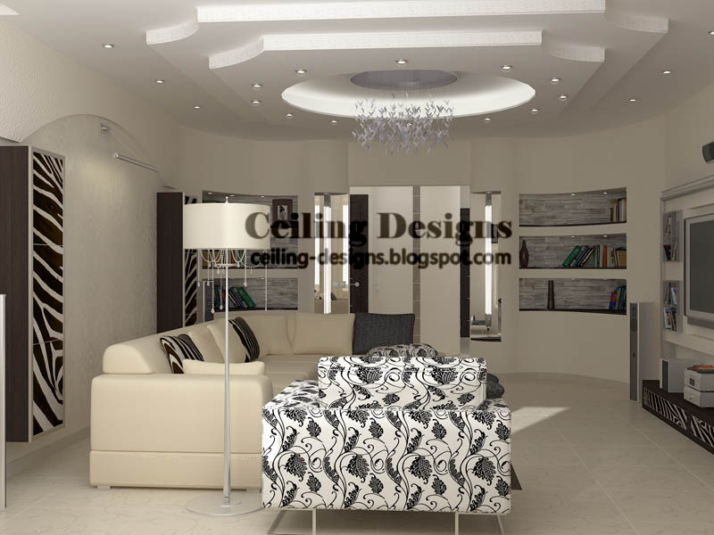 Perfect False Ceiling Designs For Living Room From PVC Panels