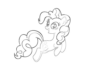 #1 Pinkie Pie Coloring Page