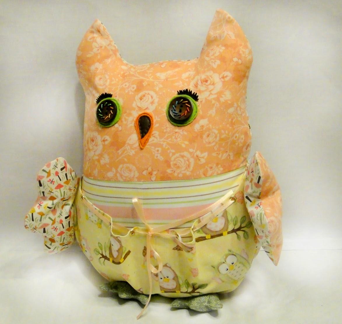 Декоративная подушка Сова Совунья Подарок новорожденному ребенку на годик