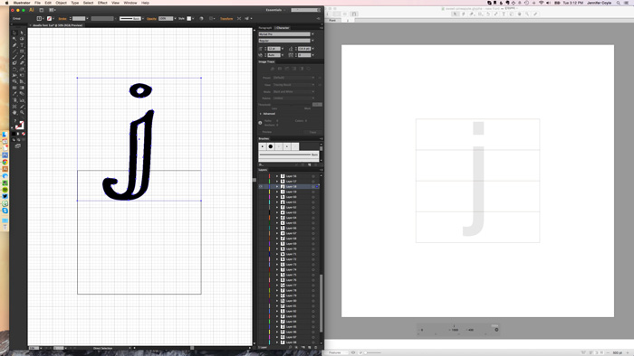 Copy each letter from Illustrator - How to Create Your Own Font Using Illustrator and Glyphs App - HelloBrio.com