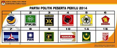 Daftar 15 Partai Politik Peserta Pemilu 2014