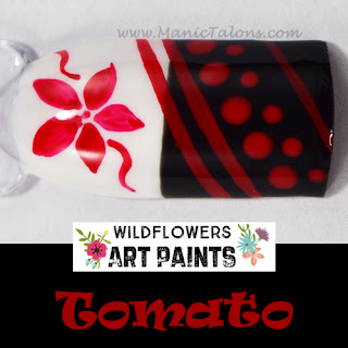 Wildflowers Nail Art Paint Tomato