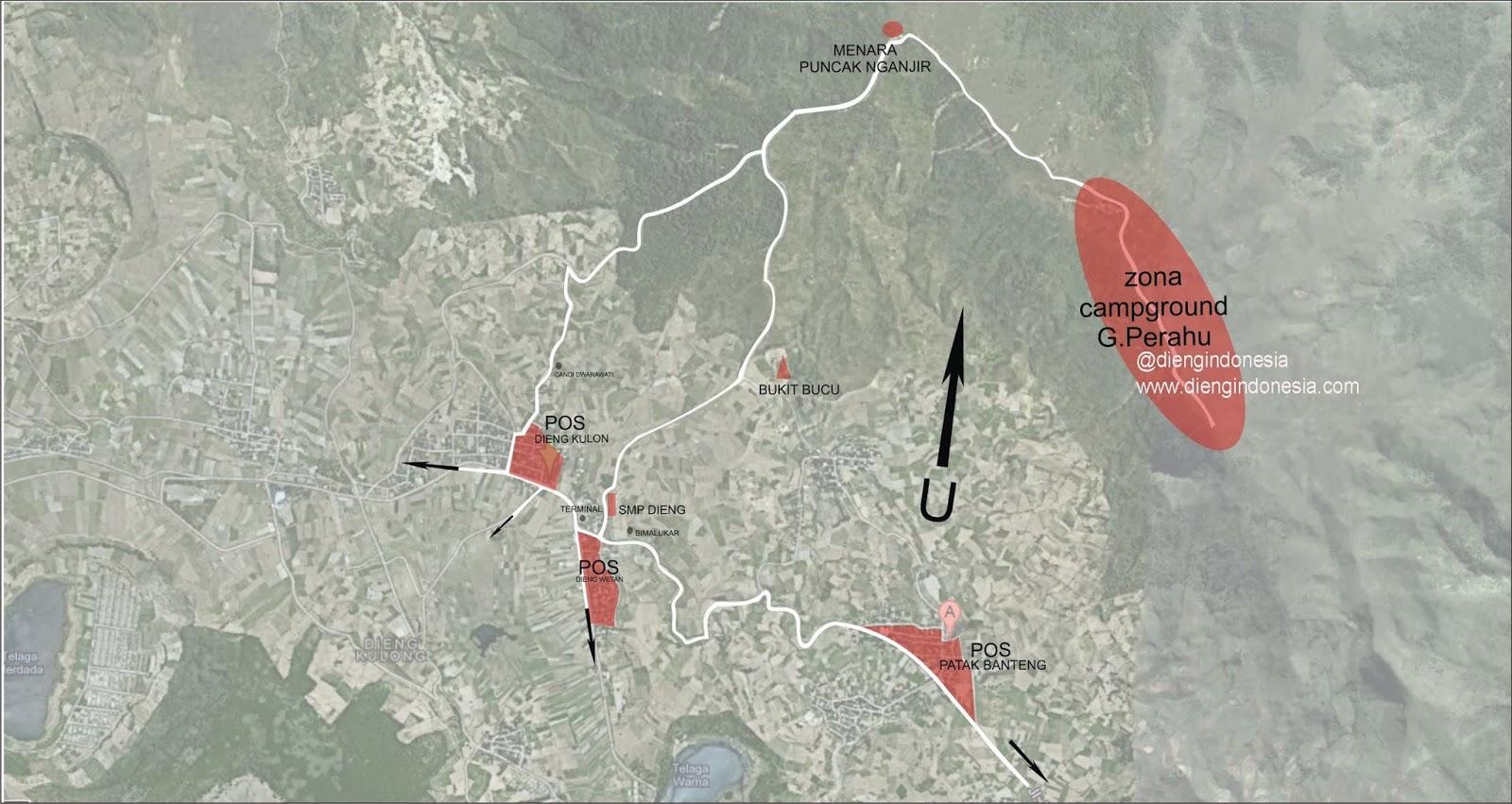 Peta Gunung Prau Dieng