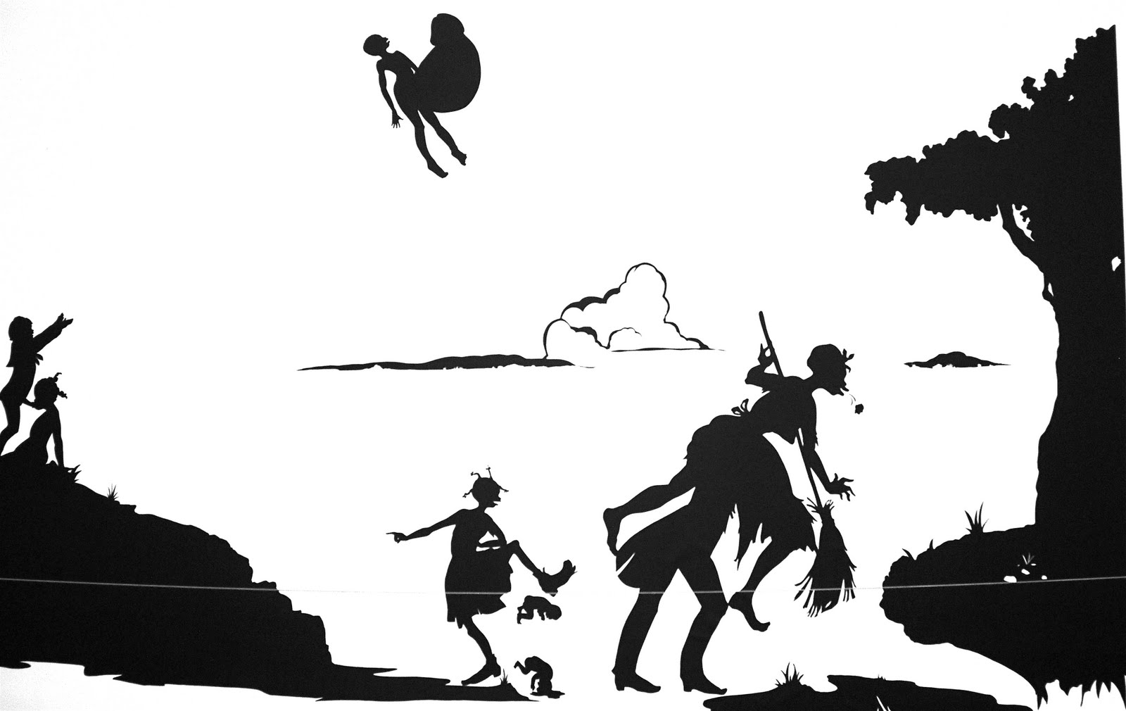 Kara walker uses paper silhouettes to portray race and gender relations