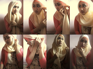 Video dan Gambar Cara Memakai Jilbab Segi Empat Terbaru