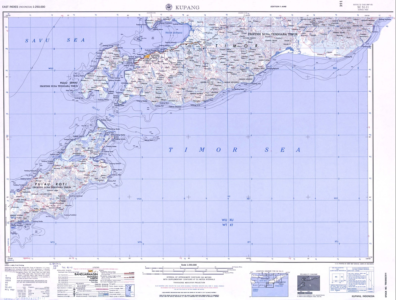 Kupang Indonesia  city pictures gallery : AMAZING INDONESIA: KUPANG TOPOGRAPIC MAP SCALE 250K