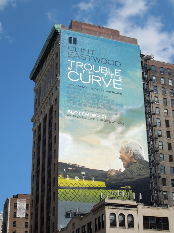 Trouble with the Curve billboard 5th Avenue NYC