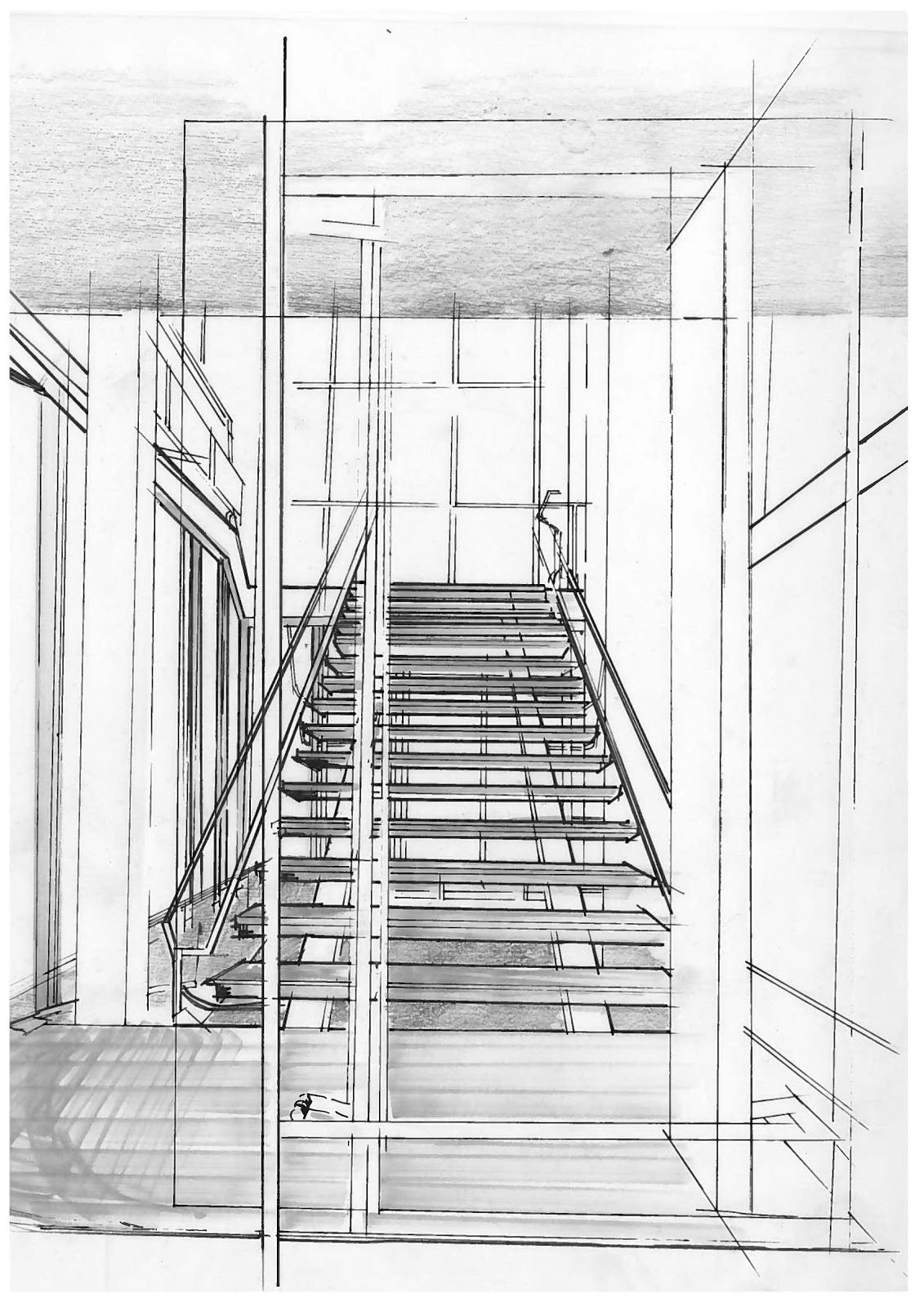 Illustration of main staircase