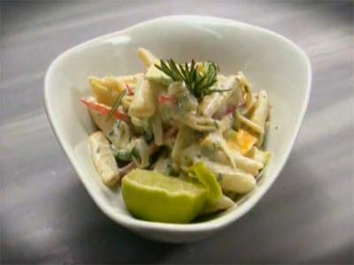 Tropikal Makarna Salatasının Yapılışı - Videolu Tarifi