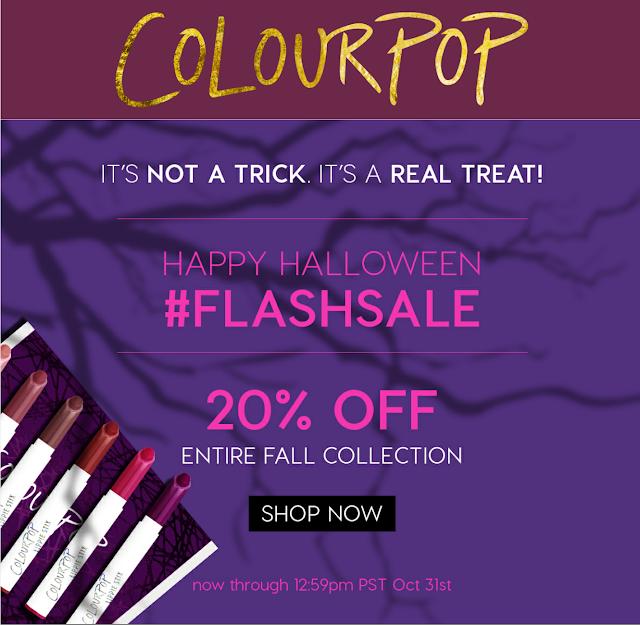 Colourpop coupon code shaaanxo