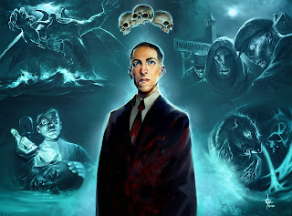 lukas thelin, hp lovecraft, horror art