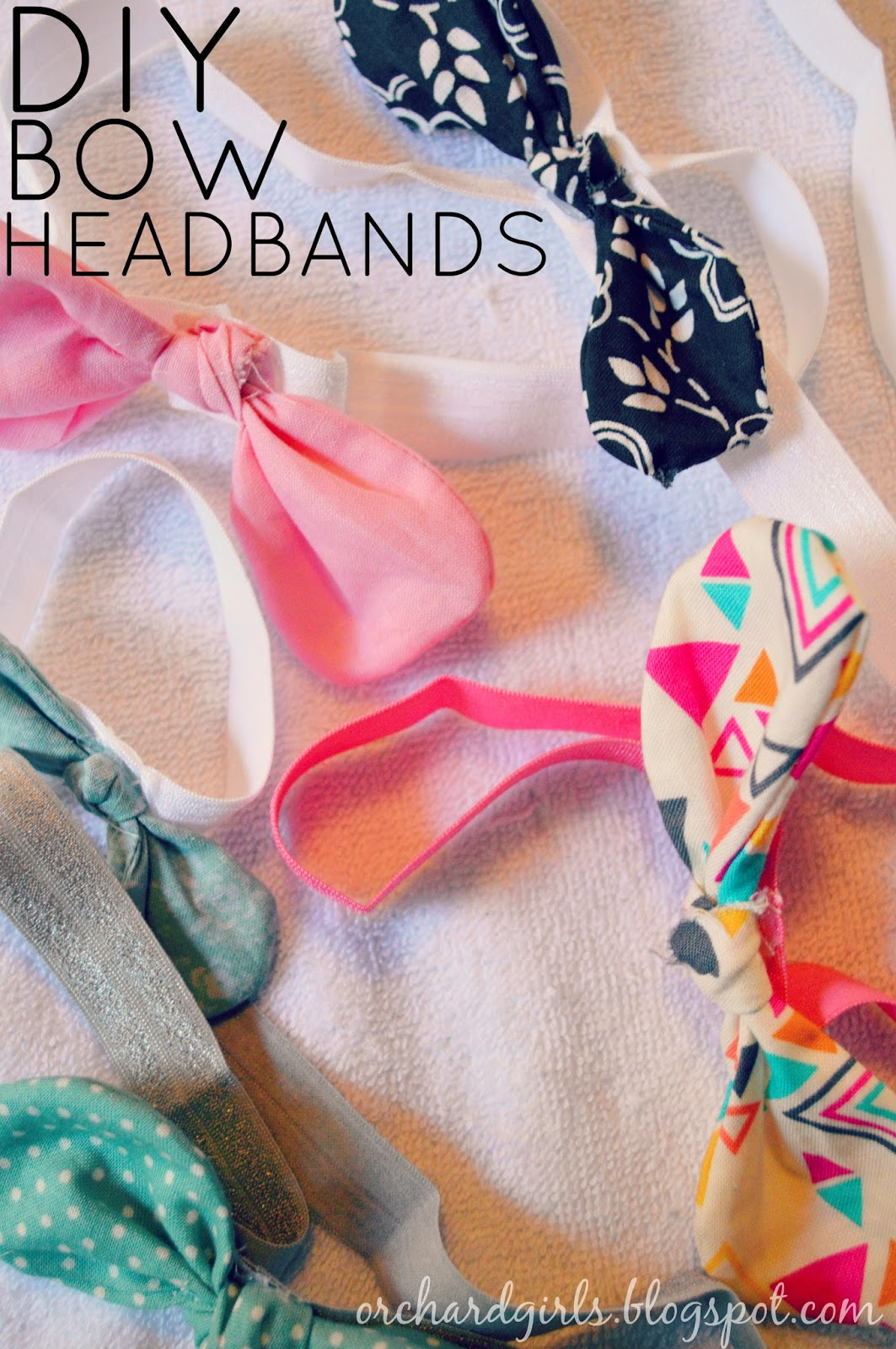 DIY Fabric Bows and headbands by OrchardGirls