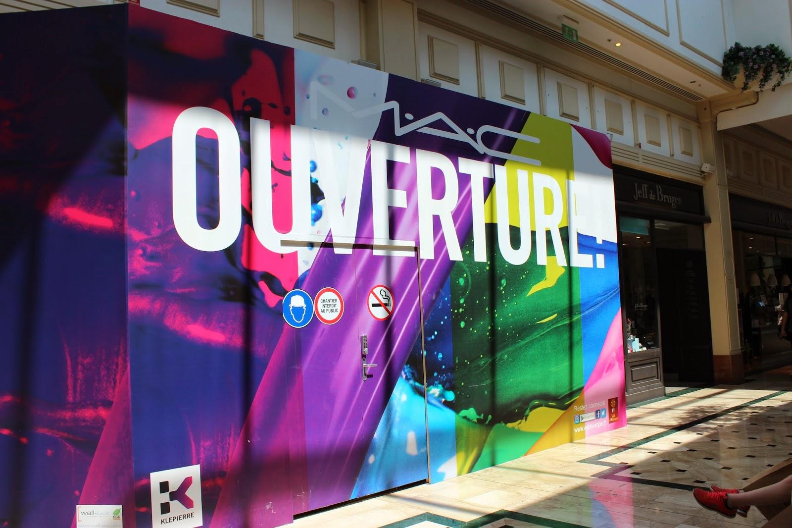 Centre commercial Val d'Europe serris ouverture Mac