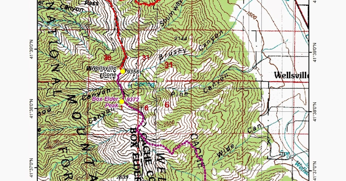 Wellsville Utah Map.Mark S Hikes And Treks Wellsville Mountains