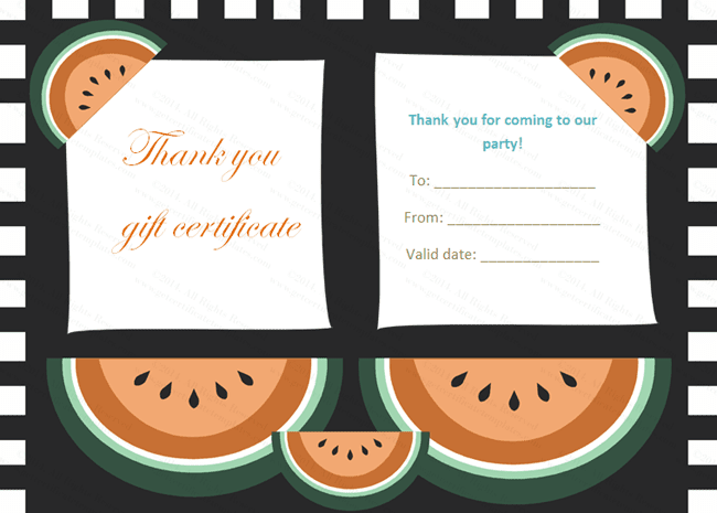 Gift Certificate Templates Thank You Gift Certificate Templates – Thank You Certificate Template