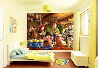wallpaper dinding kamar anak-cartoon