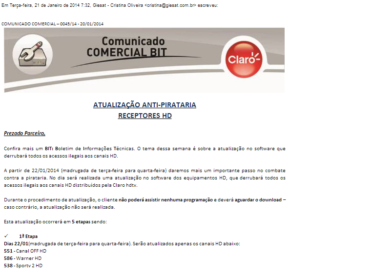 Comunicado indica que dia 28/01/2014. é o dia D do apagão dos HD NA cloro NOS DECOS PIRATAS Iiw7