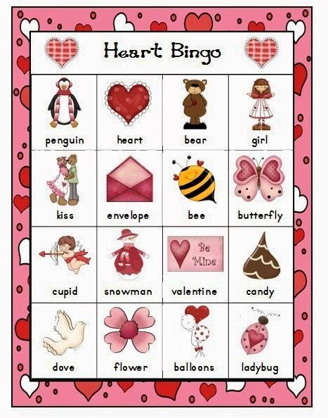 Valentineu0027s Day Bingo For Preschoolers 3