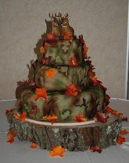 Camo Wedding Cakes Designs