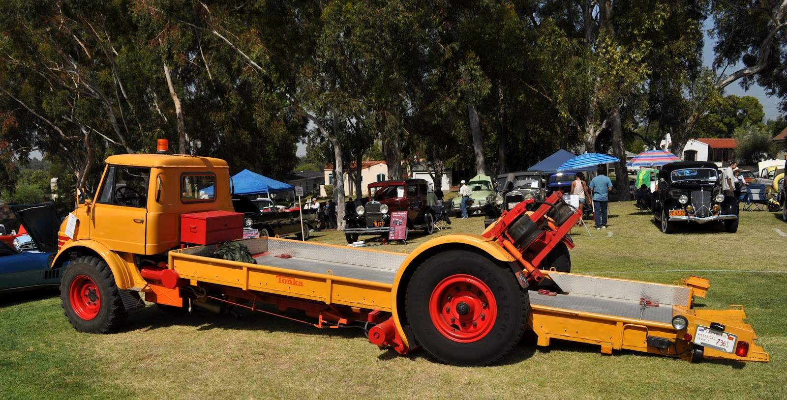 Just A Car Guy 1966 Unimog Flatbed Tow Truck With An