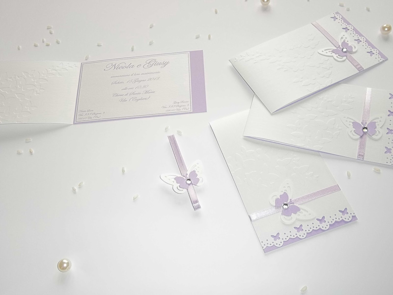 Matrimonio Tema Lilla : Sara crea partecipazioni di nozze per battesimi