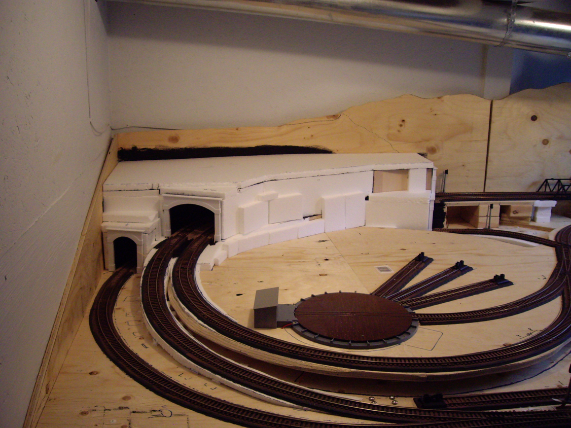Tys Model Railroad Mountain Tunnels Part I Train Scenery Also Wiring Diagrams On Dcc Completed Foam Tunnel Structure