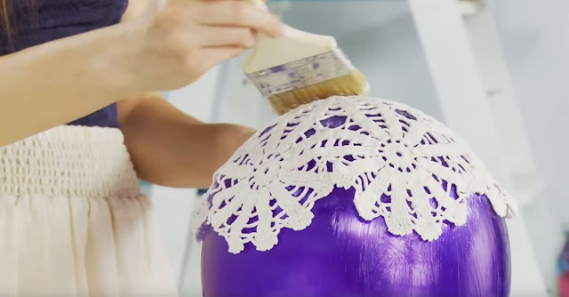 With Just a Few Supplies, Make This DIY Doily Lantern For Your Home