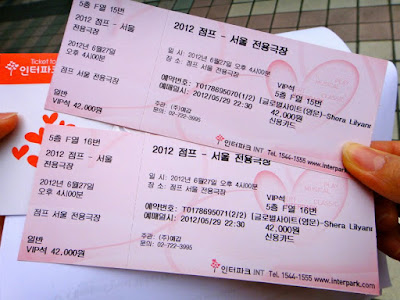 Tickets to watch Jump in Seoul