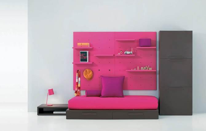 cute pink junior room design