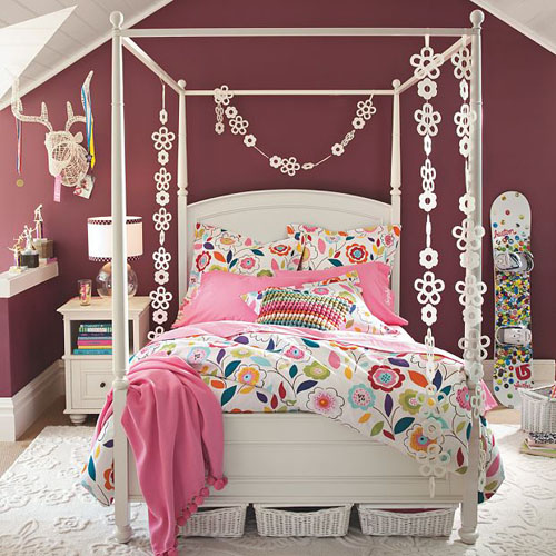 Little girls bedroom cool teenage girl rooms for Cool teen bedroom ideas