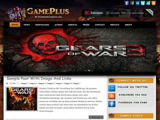 Gameplus Blogger Template