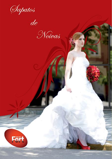 Sapato de noiva Vermelho combinando com o bouquet