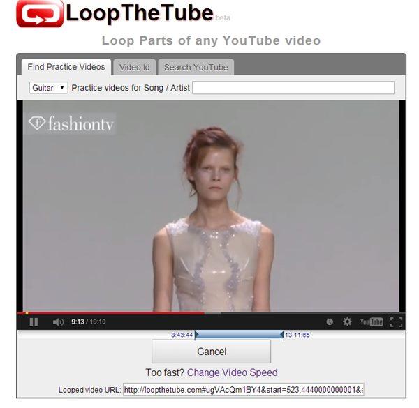 youtube en boucle