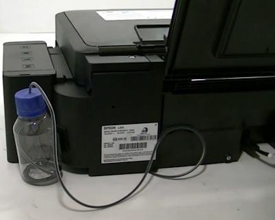 impresora epson l355 con drenaje de tinta desde las almohadillas