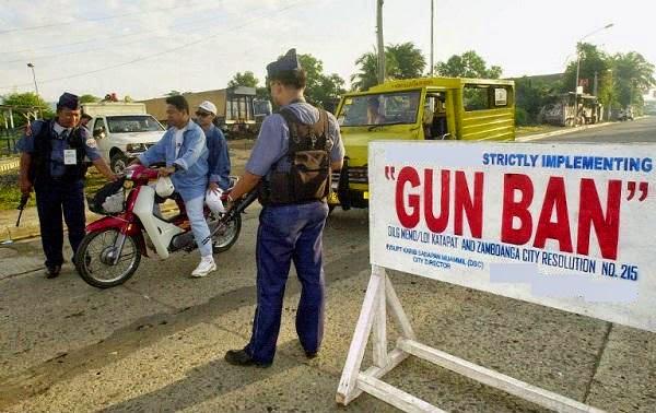 Gun ban starts tomorrow, January 22, re SK elections
