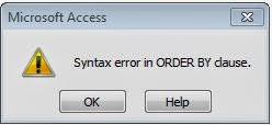 Database Acces tidak mendukung perintah LIMIT