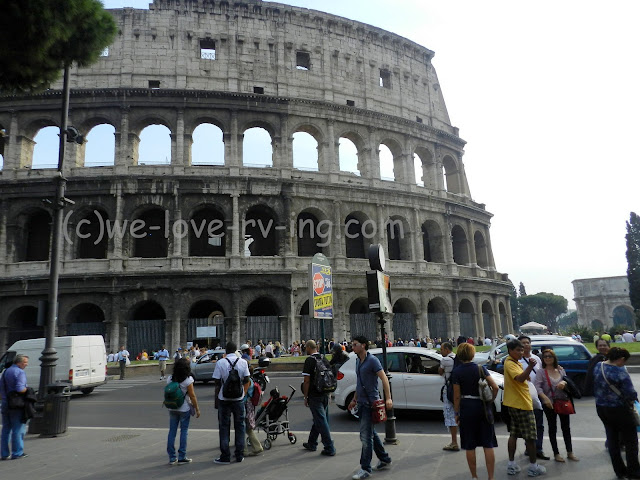 We are across the street from the Colosseum