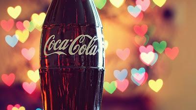Coca Cola Glass Bottle Photograph Colorful Hearth Lights HD Desktop Wallpaper