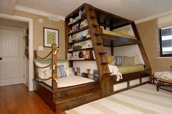 Do You Like This Idea We Have Something Similar With One Our Bunk Beds To Achieve This Particular Effect Place An Armchair Toward The Foot Of The Bed And