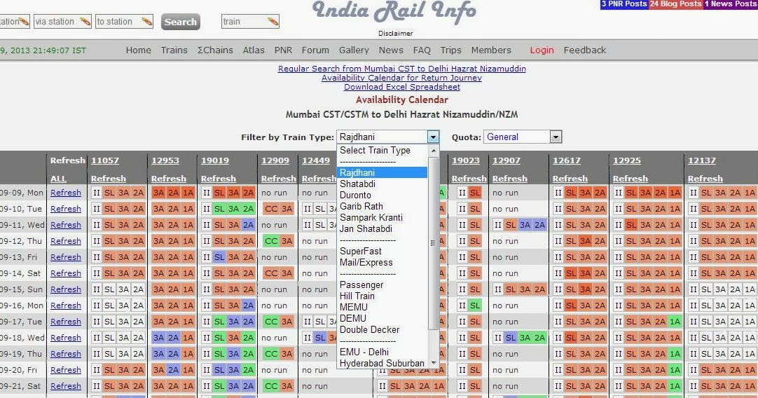 2 Month Train Seat Availability On A Click Irctc Help