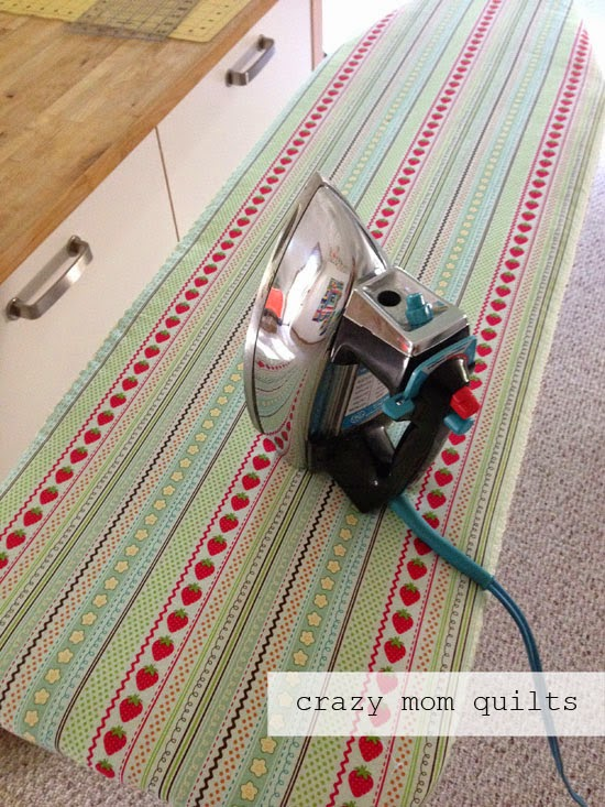 Crazy Mom Quilts One Way To Make An Ironing Board Cover