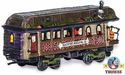 Ghost train ride Trick or treat and Halloween Haunted Rails Model Railway Dining Car Collectible Toy