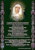 Cartel Solemne Misa De Erección como Agrupación Parroquial María Stma. de la Esperanza