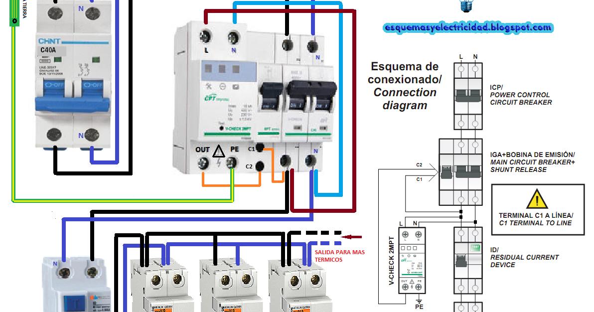 Esquema conexionado de protector contra sobretensiones for Como montar un cuadro electrico