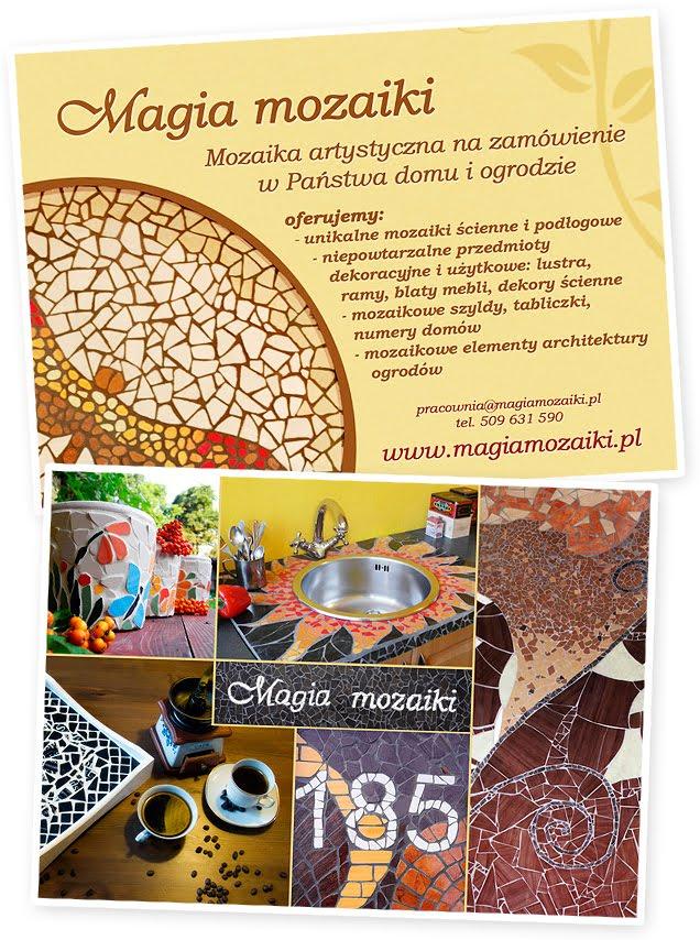 www.magiamozaiki.pl - mozaika artystyczna na zamówienie - ulotka