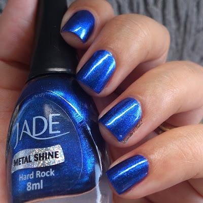 esmalte azul metálico