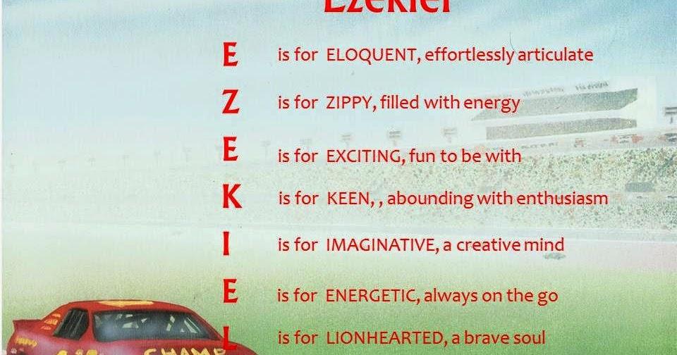 Acrostic Name Poems For Boys: Ezekiel