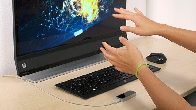 управление жестами с помощью HP Leap Motion Keyboard