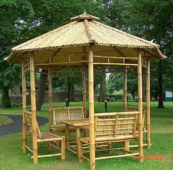 Designing arts gazebo home interior project - Pergola bambu ...